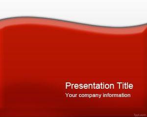 Plantilla de PowerPoint Rojo Brillante
