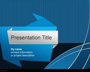 Plantilla PowerPoint de origami gratis