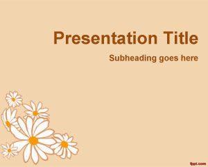 Plantilla de PowerPoint de Pétalos de Flores Libres