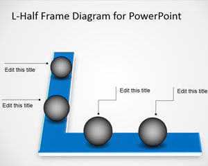 Línea de tiempo del diagrama de medio cuadro de L-Half Frame gratuito para PowerPoint