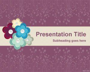 Plantilla de PowerPoint para álbumes de recortes de flores gratis