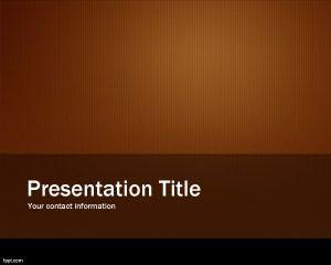 Plantilla de diapositiva metálica naranja
