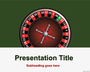 Plantilla de PowerPoint de la Ruleta Gratis