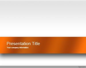 Plantilla de PowerPoint de Orange Engage