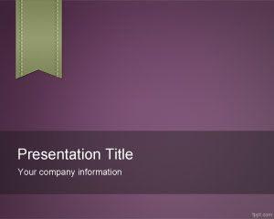 Plantilla de PowerPoint de e-Learning Violeta Gratis