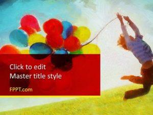 Globos gratis para niños Plantilla de PowerPoint