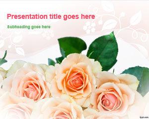 Plantilla de PowerPoint de Bunch of Roses gratis