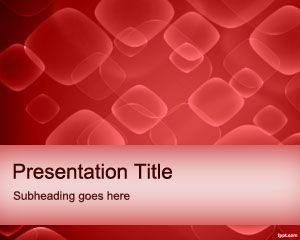 Plantilla de PowerPoint de Glóbulos Rojos Gratis