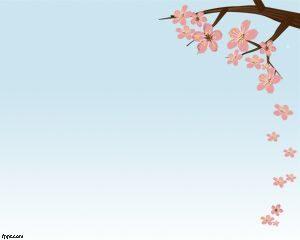 Plantilla de PowerPoint Flor de Cerezo Gratis
