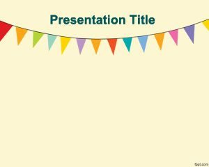 Plantilla de PowerPoint para banderines
