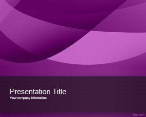Plantilla de PowerPoint Violeta Exótica