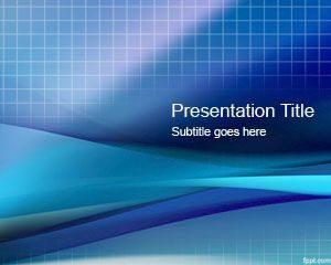 Plantilla de PowerPoint Blue Grid gratis