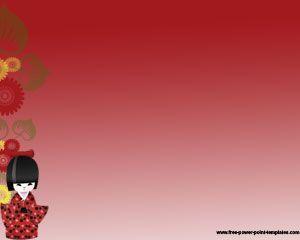 Plantilla Powerpoint de Chica Japonesa Gratis