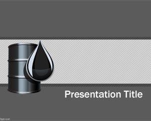 Plantilla PowerPoint de Petróleo Gratuita