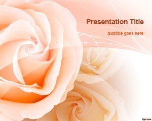 Plantilla de PowerPoint de Peach Roses gratis