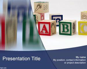 Plantilla de PowerPoint ABC gratis