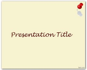 Plantilla de PowerPoint con chincheta en miniatura