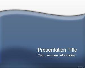 Plantilla PowerPoint Azul Brillante