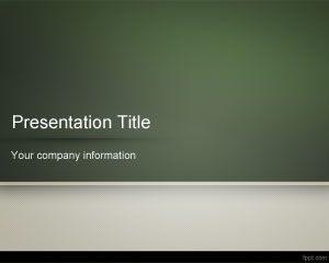 Plantilla de PowerPoint para Pizarra Escolar Gratuita