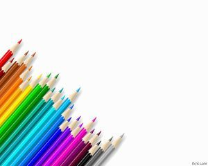 Plantilla de PowerPoint para Lápices de Color Gratis