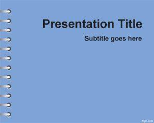Plantilla de PowerPoint para la Tarea de la Escuela Azul