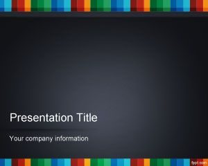 Tira de Color PowerPoint Template