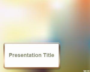 Plantilla de PowerPoint con efecto Desenfoque gratuito