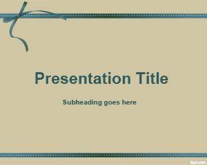 Plantilla de PowerPoint para Regalo Sepia