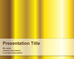 Plantilla de PowerPoint Pure Gold