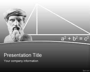 Plantilla de PowerPoint de Pitágoras gratis