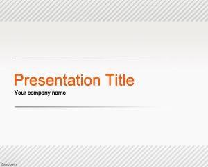 Plantilla de línea de PowerPoint