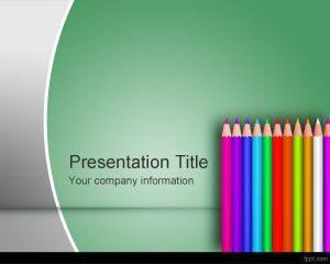 Plantilla PowerPoint de Lápiz Escolar de Color Gratis