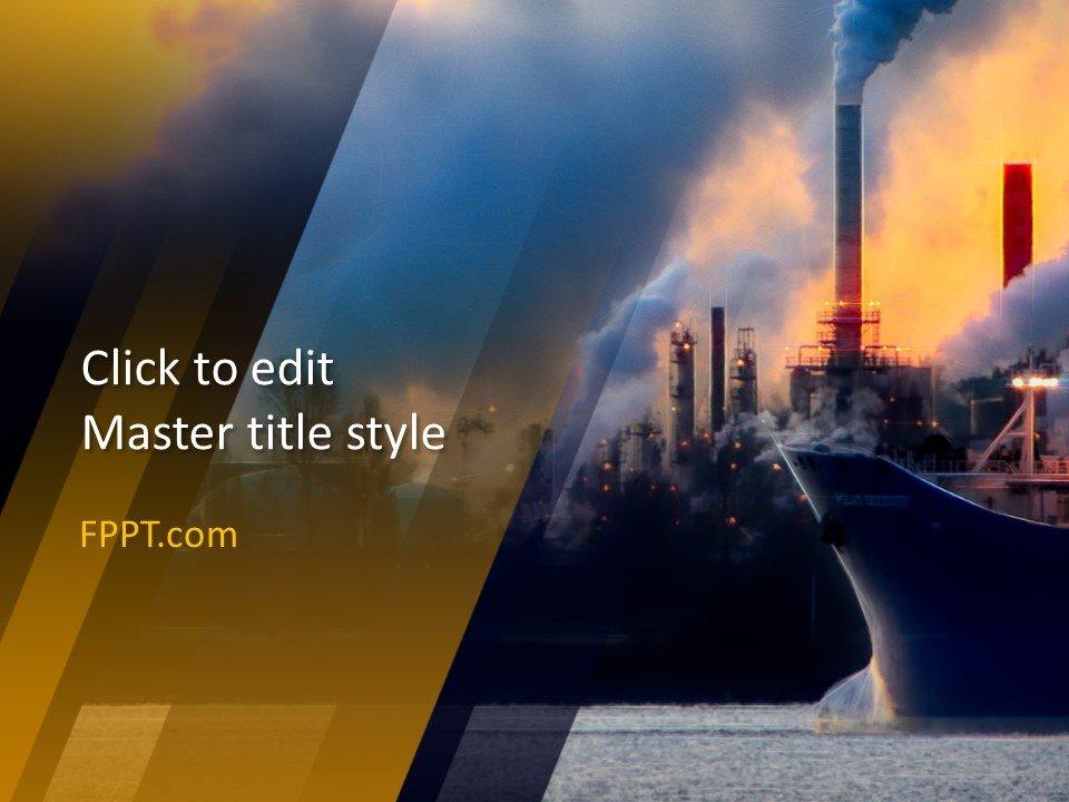 Diseño gratuito de plantillas de PowerPoint para la industria
