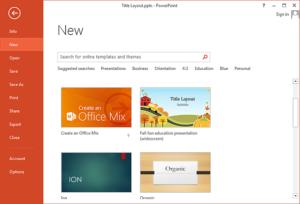 Cómo hacer que las plantillas personalizadas aparezcan en la pantalla de inicio de PowerPoint 2013