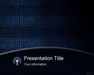 Plantilla de PowerPoint Blue Grunge