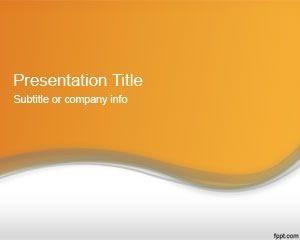 Plantilla de PowerPoint Naranja Abstracta 2012