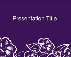 Plantilla de PowerPoint de Wildflower gratis