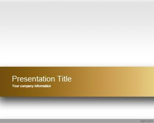 Plantilla de PowerPoint Gold Engage