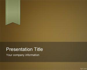 Plantilla de PowerPoint de e-Learning marrón gratis