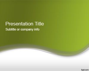 Plantilla de PowerPoint Verde Abstracto 2012
