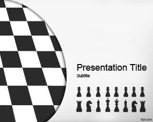 Plantilla de PowerPoint de Estrategia de Ajedrez Gratis