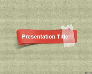Plantilla de PowerPoint de Tira Roja