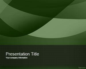 Plantilla de PowerPoint Verde Exótico