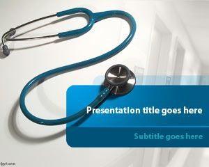 Plantilla de PowerPoint para estetoscopio gratis