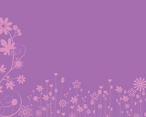 Plantilla de Power Point de Flores Rosadas Gratis