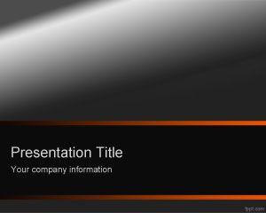 Plantilla de PowerPoint Naranja Oscuro