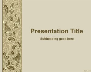 Plantilla decorativa de PowerPoint