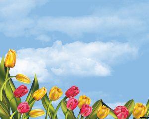 Plantilla de PowerPoint de Tulipanes Gratis