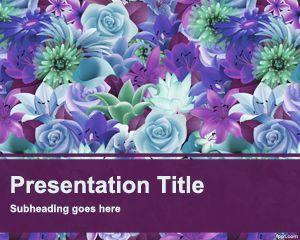 Plantilla de PowerPoint Free Flower Garden