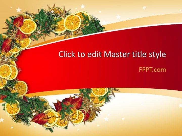 Plantilla de PowerPoint Free Flower Crown